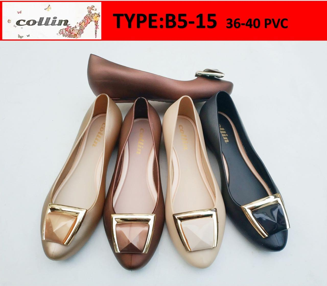 Buy Sell Cheapest Jelly Shoes Best Quality Product Deals Yumeida Sepatu Kerja Wanita Cl01 Collin Hitam Cream Gold Dark
