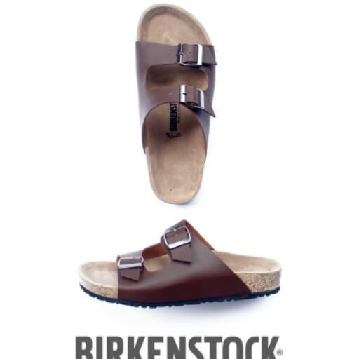 Sandal Pria Model Gesper 2 Coklat Arizona DISCOUNT!!