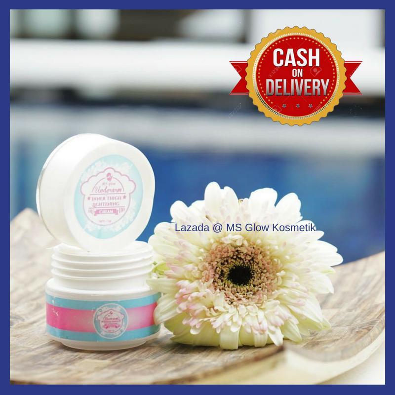 Pemutih Ketiak dan Selangkangan / MS Glow Underarm Inner Thigh Lightening / Cream Pemutih Ketiak /