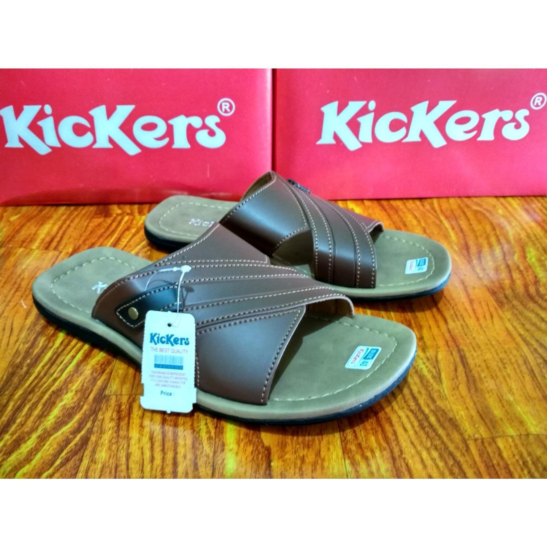 Kickers Sandal Kulit Pria - Sandal Kickers Pria - Sandal Pria Dewasa - Sandal Kulit - Sandal Pria - Fashion Pria Dewasa - Sandal Sendal Pria Slop Limited Edition