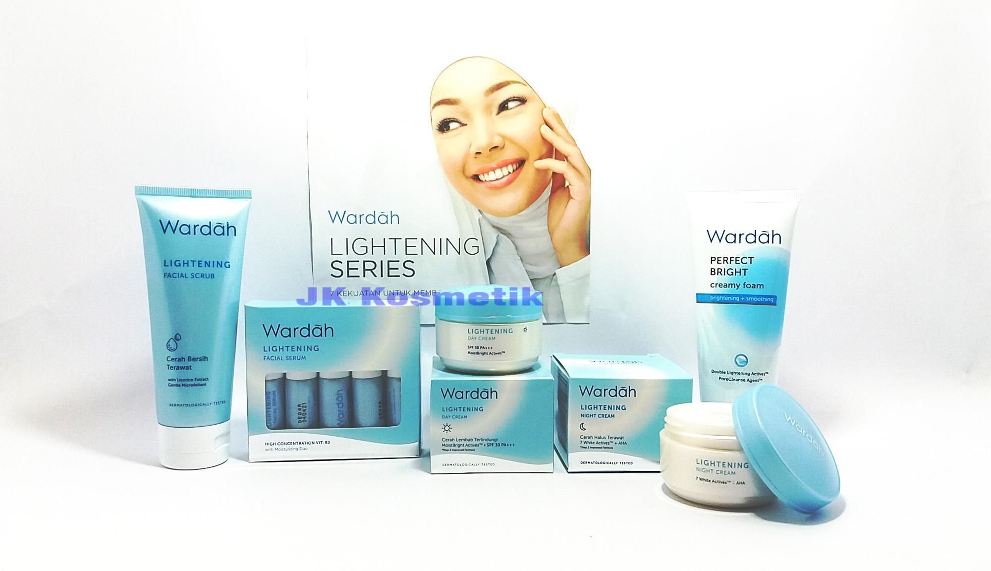 Wardah Cosmetics 1 Essential Facial Scrub 600 Ml Lightening Series New Isi 5 Item