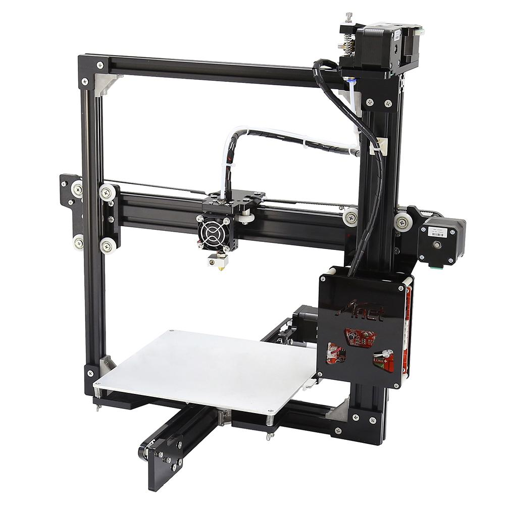 Anet A2 Logam Aluminium 3D Tiga Dimensi Pencetak Pengerjaan Sendiri dengan Tf Kartu Off-Line Printing/LCD Displayuk Plug