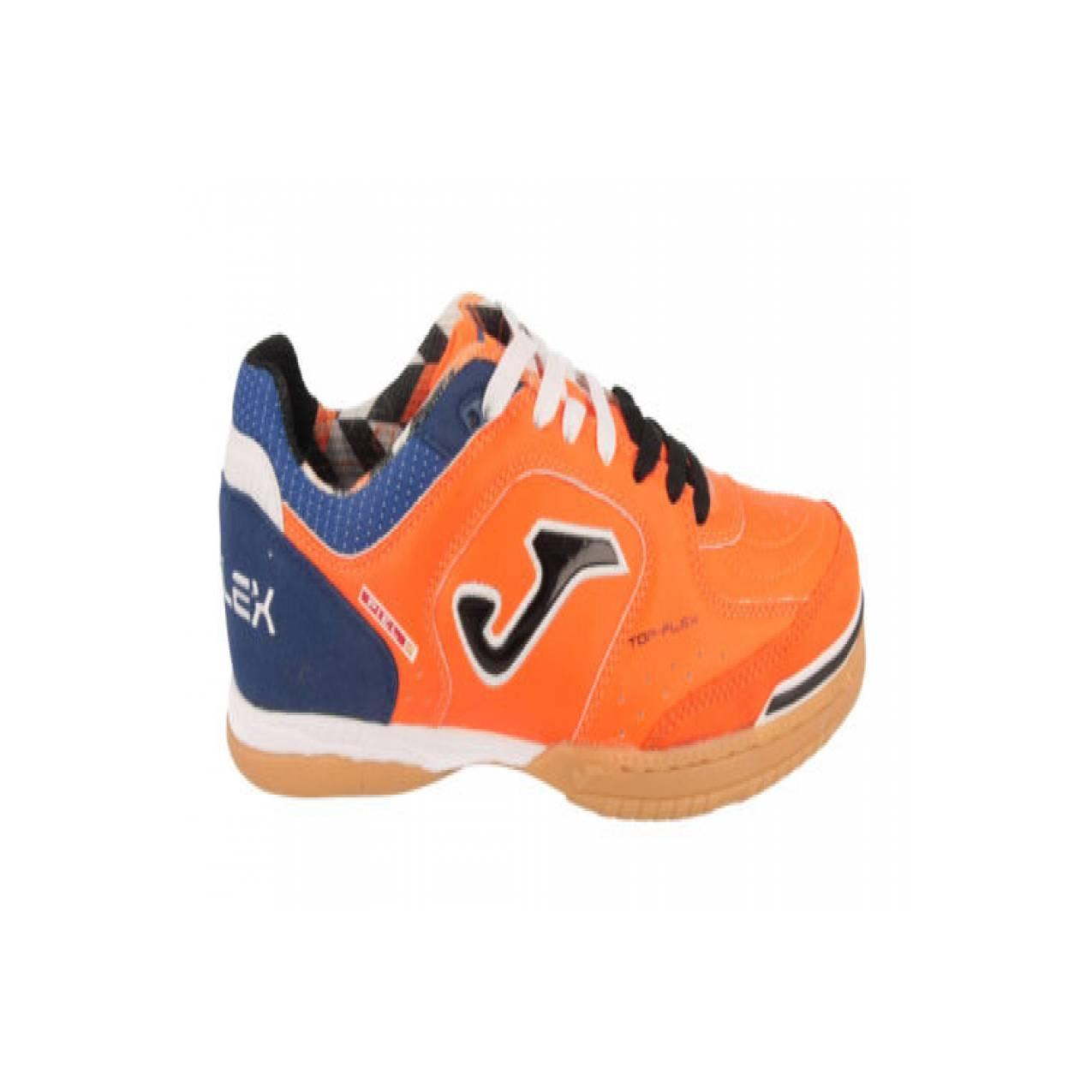 sepatu - SCARPE CALCETTO / FUTSAL INDOOR JOMA TOP FLEX 608 ORANGE-NAVY