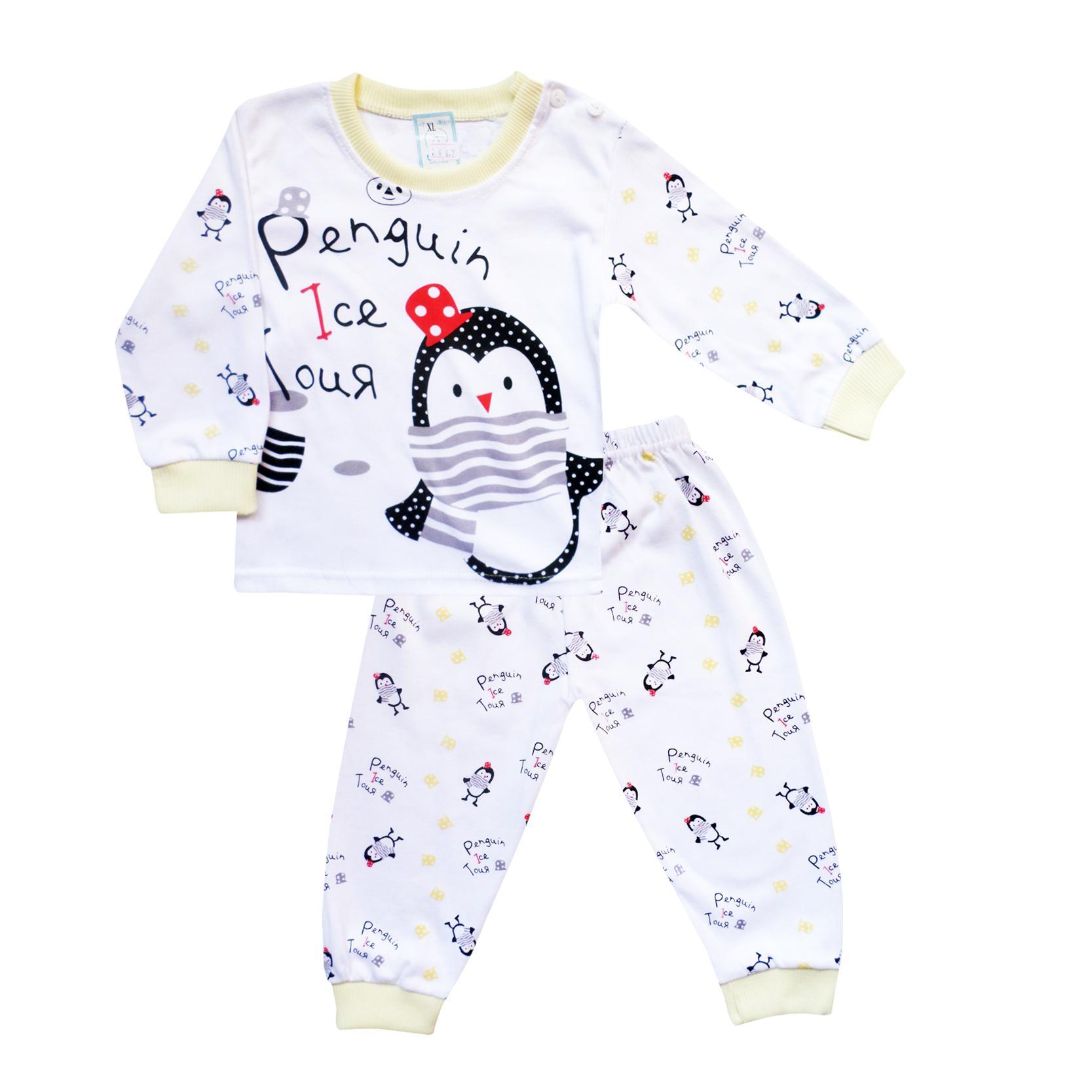 Skabe Baby Putih Piyama Anak Setelan Baju Tidur Tangan Panjang Anak Bayi Laki Laki 2667 By Waka Kids.