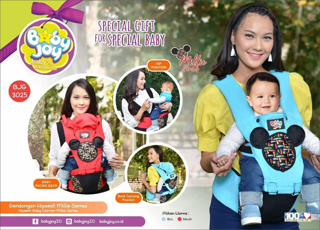 Gendongan Bayi Depan Hipseat Baby Joy Millie Series