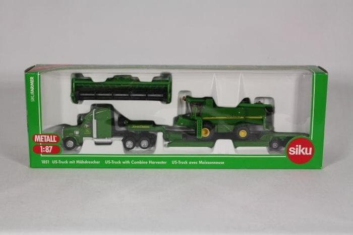 Best Seller!! Siku 1851 Us-Truck With Combine Harvester - ready stock