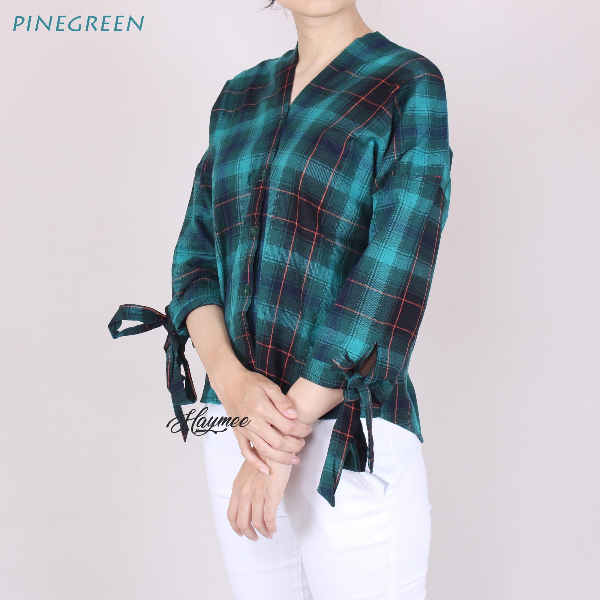 HaymeeStore Kemeja Flanel Wanita Lengan Panjang Exclusive Baju Kemeja Flannel Cewek Kerja Kantoran Kemeja Distro