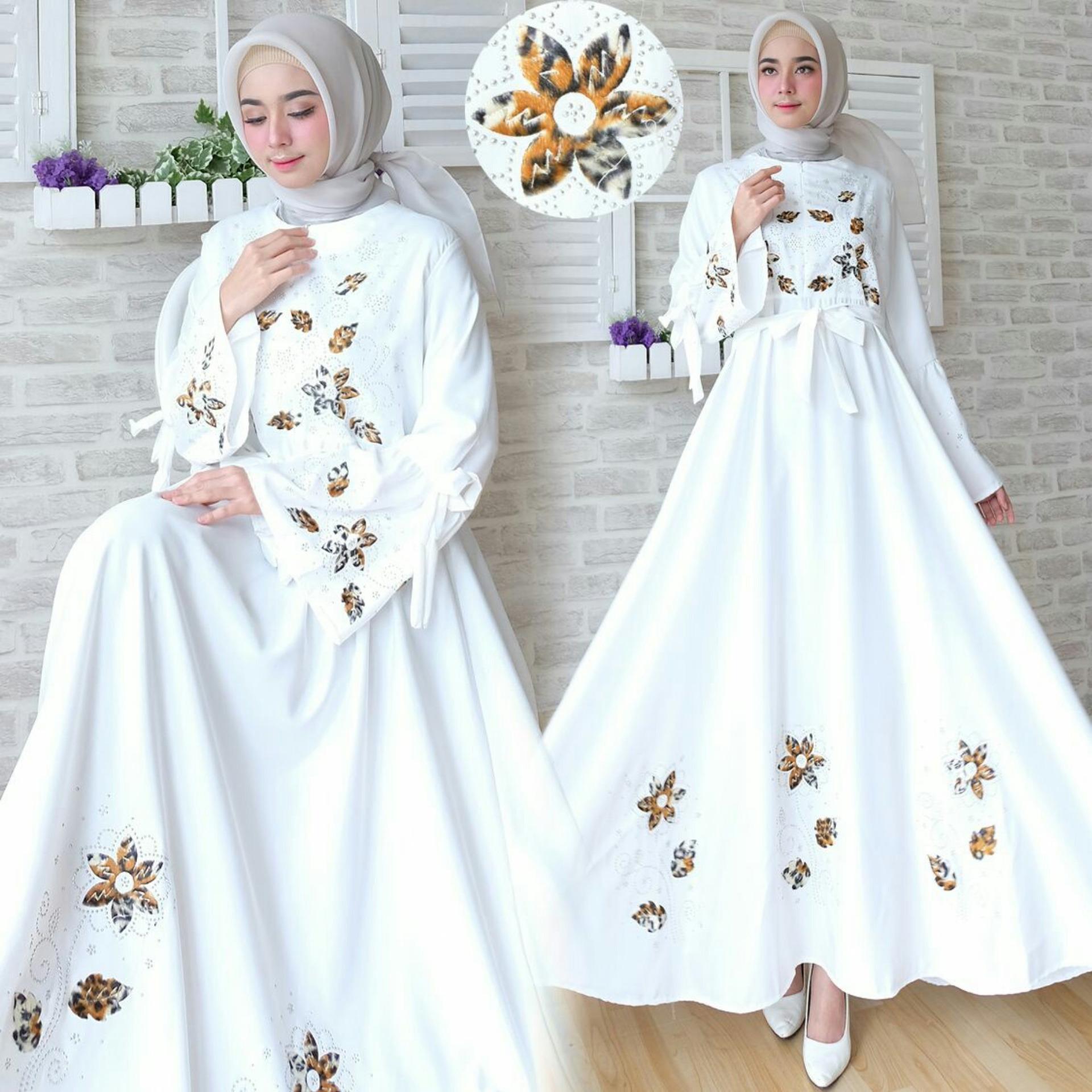 Snowshop Gamis Syari Flower - White