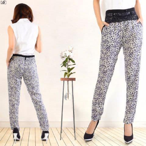 [Pants Leopard Abu SW] celana wanita rayon bangkok abu abu