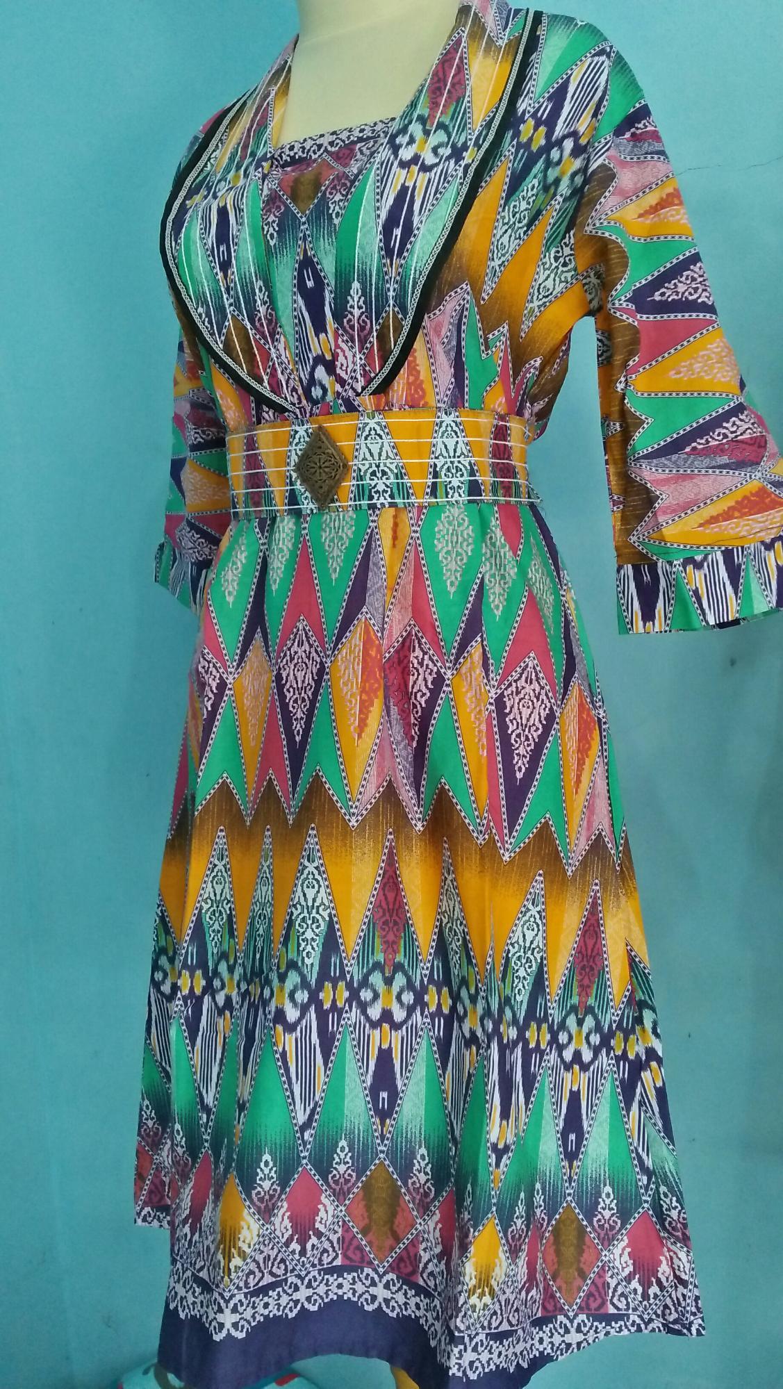 Dress Gaun Batik Motif Tribal size M