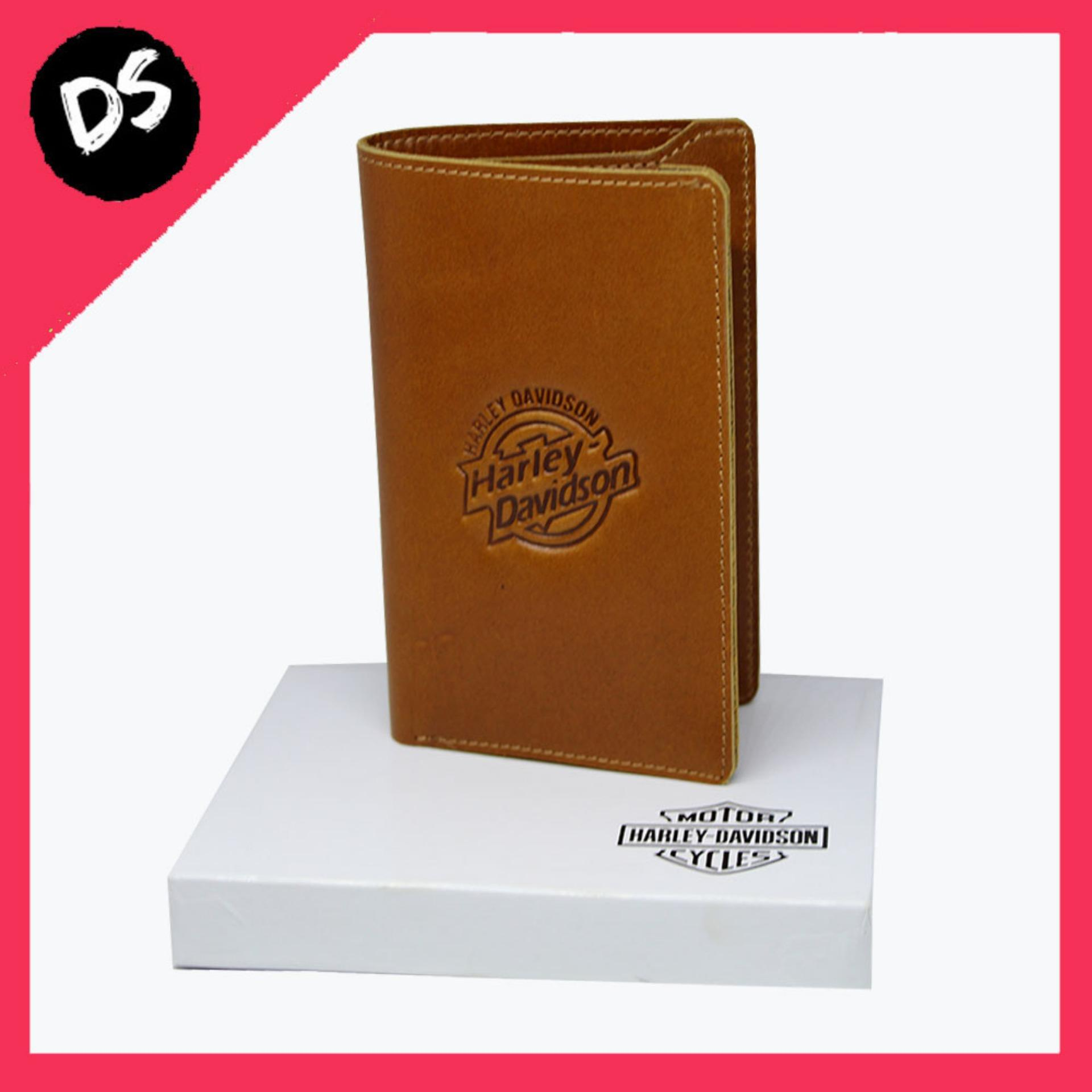 Hot Promo!!! Dompet Pria Kulit Asli Coklat Model Harley Davidson - Dream Shop