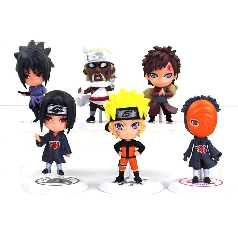 Action Figure Naruto 6 PCS Karakter Mainan Model 19 (Sasuke Killer Bee  Gaara Itachi Naruto 50a3cd3f05