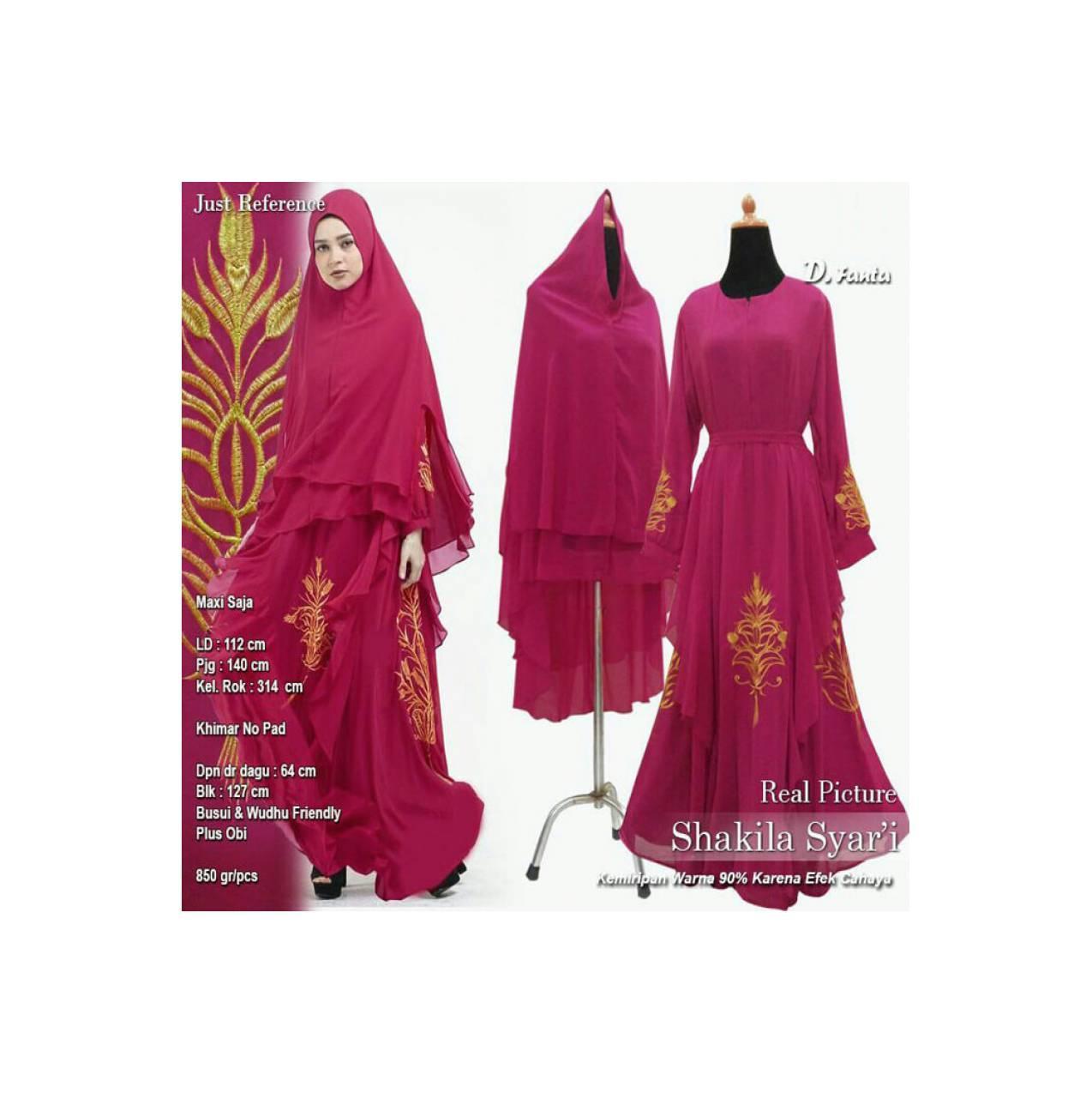 Baju Pengantin Muslimah 120164 GAMIS WANITA SHAKILA SYARI FANTA