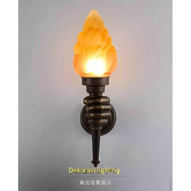 Lampu  hias dinding taman pilar api obor waterproof