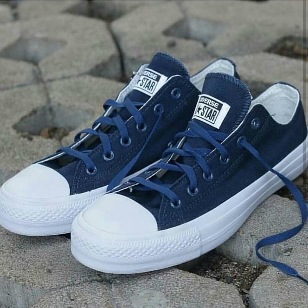 Sepatu sneakers convers all star CT navy-sepatu casual-sepatu sekolah