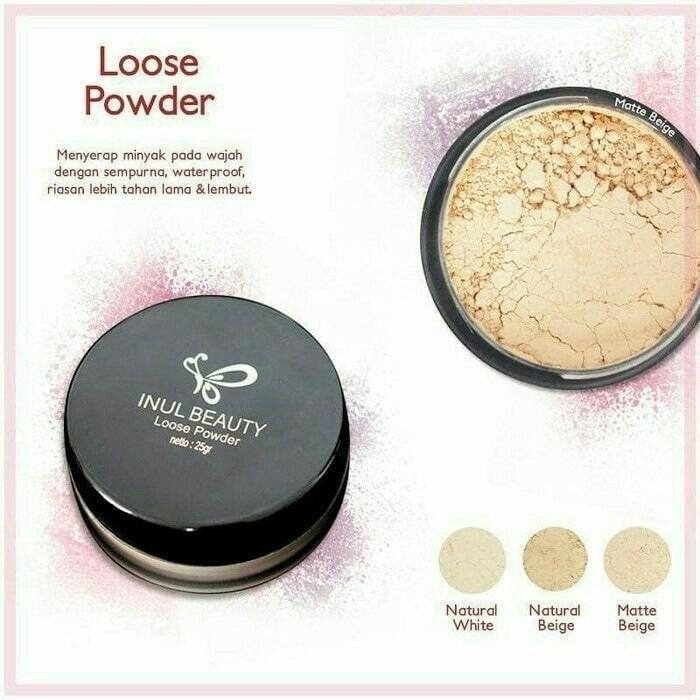 INUL BEAUTY LOOSE POWDER - BEDAK TABUR 25 GR