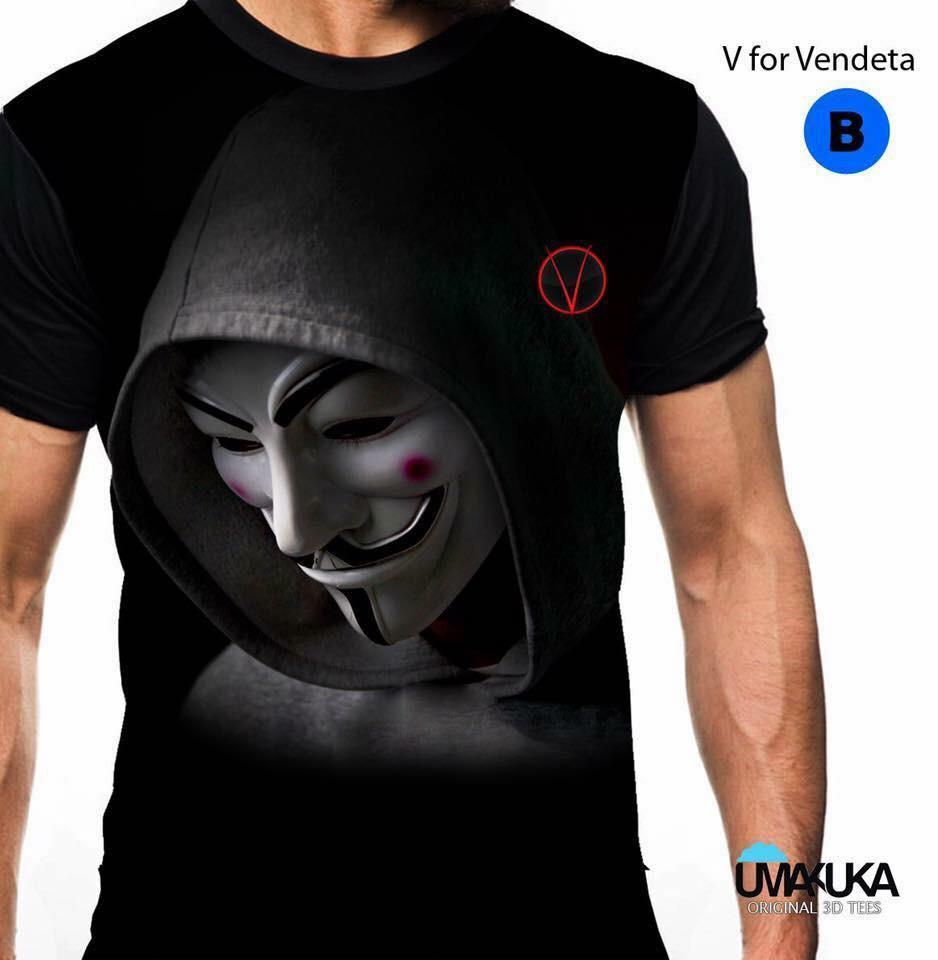 V for vendeta kaos musik 3d umakuka fullprint