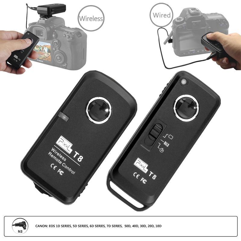 Pixel T8 N3 Nirkabel Remote Kontrol Pengatur Cahaya Kamera Rilis untuk Canon EOS 7D 5DS Seri 1DS Seri 6D 50D 40D 30D 20D 10D kamera-Intl