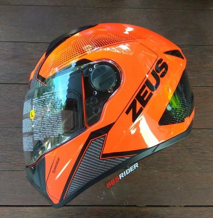 Helm Zeus Z811 Speedster AL6 Neon Orange / Black