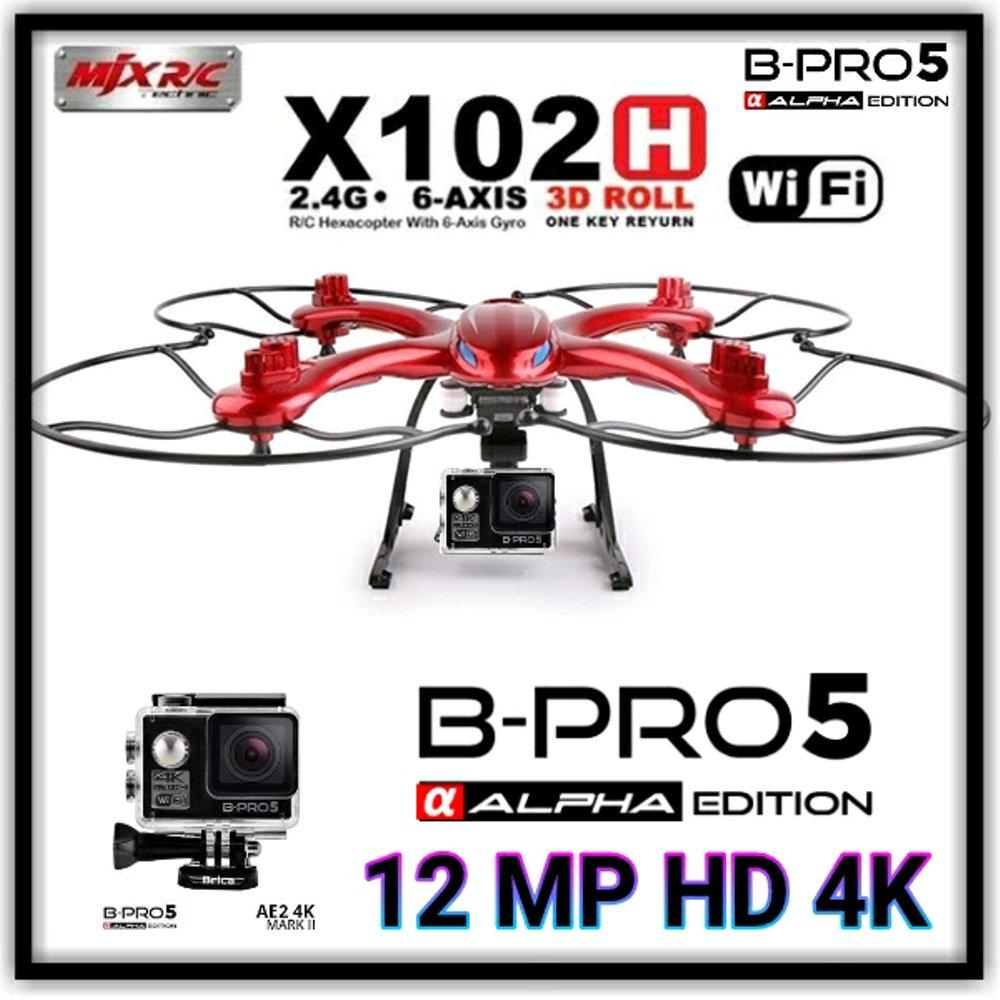 BRICA B-PRO ALPHA 5 PLUS DRONE MJX X102H - ACTION CAMERA