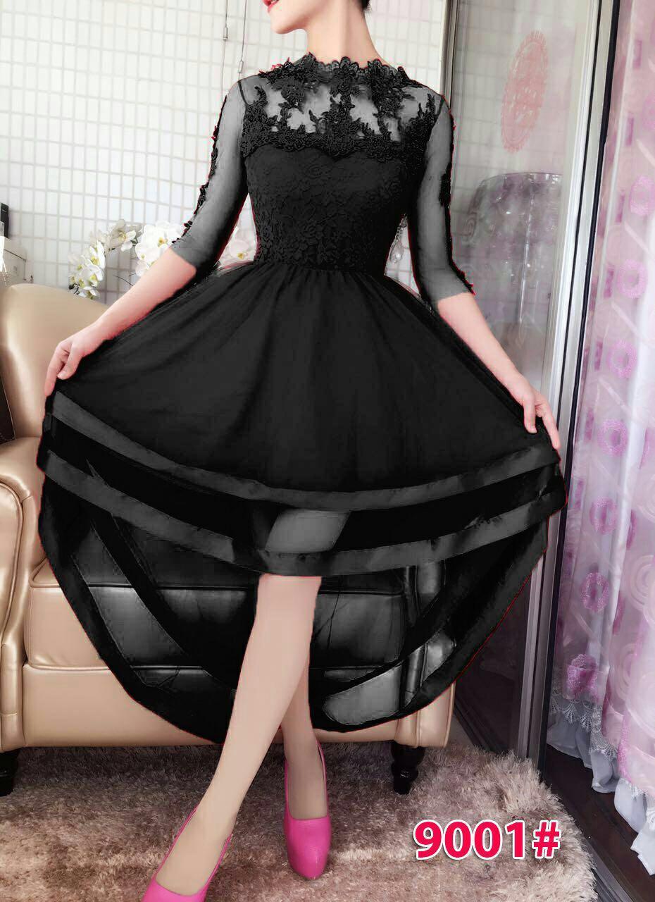 9001# baju pesta import / baju seksi / gaun pesta import / baju sabrina / dress fashion import
