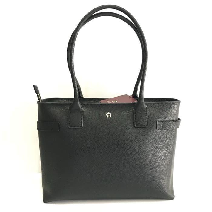 Harga Diskon!! Tas Aigner Original - Aigner Roma Shopper Black - ready stock