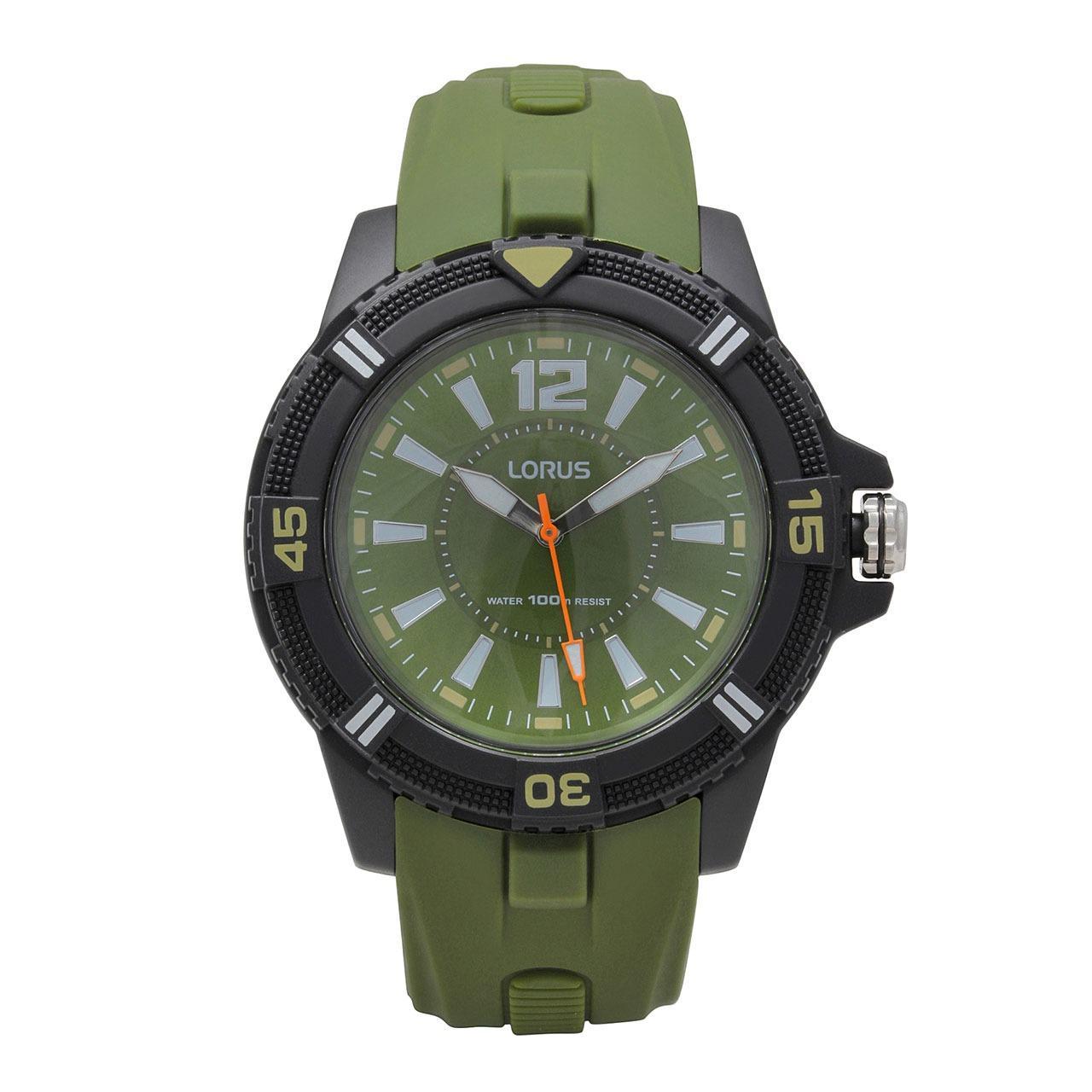 LORUS Jam Tangan - Green Black - Silicon - RRX13FX9
