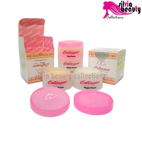 Cream Collagen Siang & Malam Original By Silvia Beauty Collections.