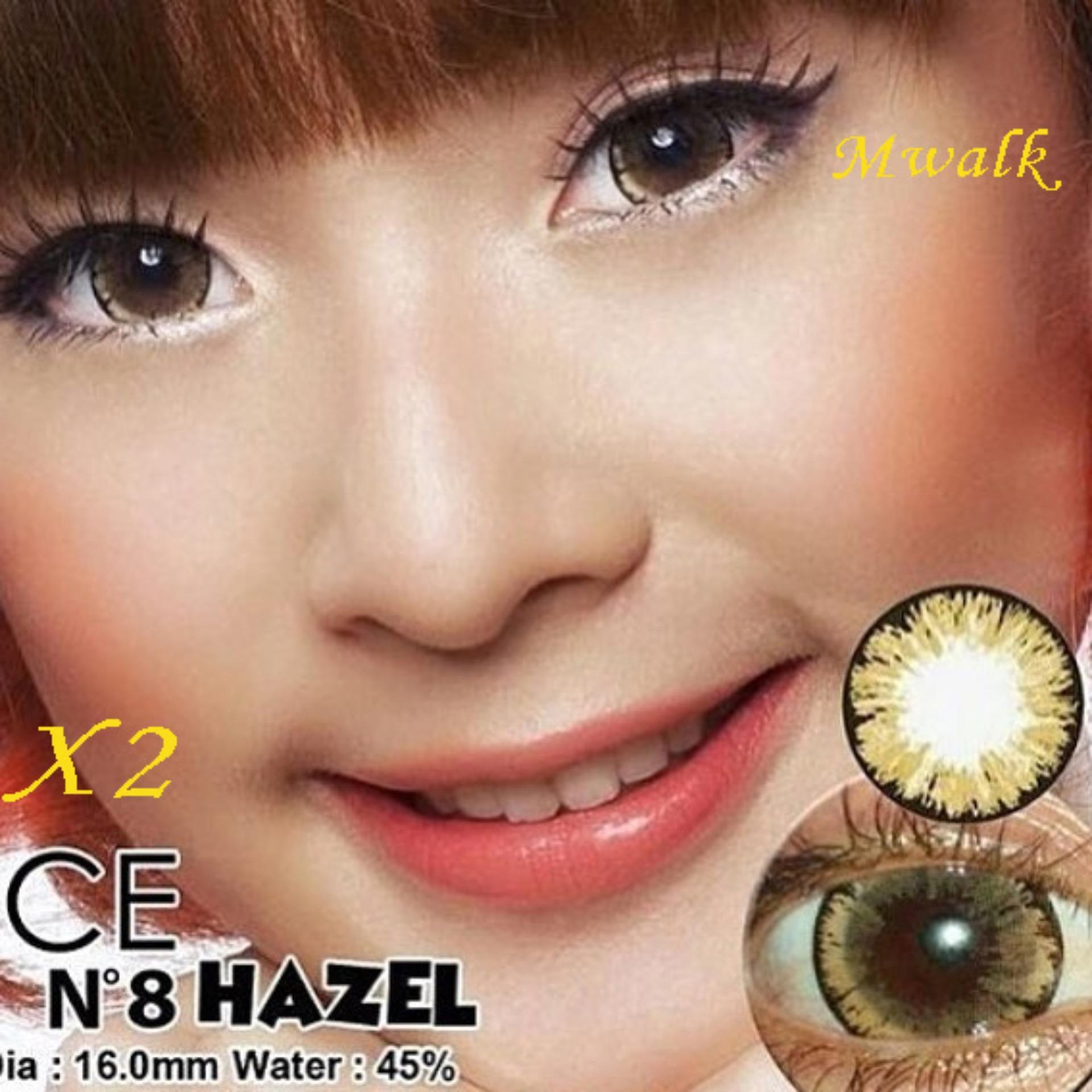 X2 Ice Nude N8 Softlens – Hazel + Free Lenscase