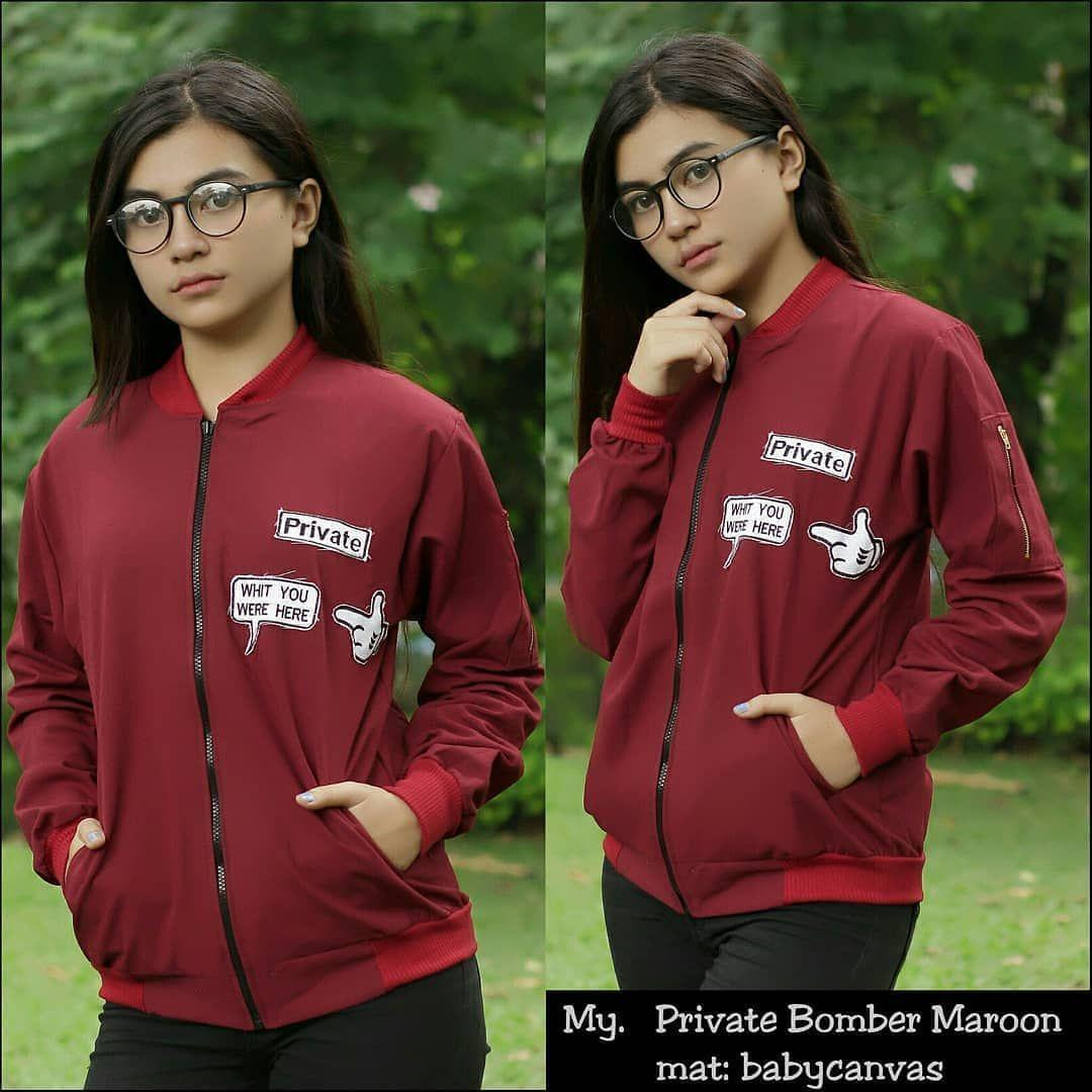 Buy Sell Cheapest Private Bomber Jacket Best Quality Product Deals Jaket Maroon Wanita Fashion