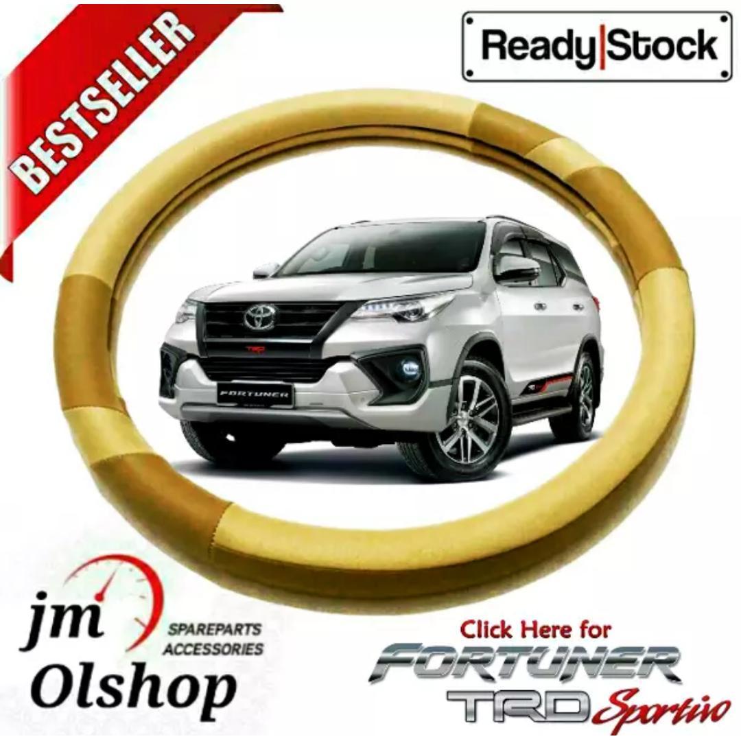 Cover Stir atau Sarung Setir Mobil Toyota FORTUNER / TRD SPORTIVO - (Banyak Pilihan Warna, Pilih Warna yang Di Suka)