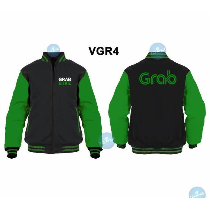 Jaket Grab Bike Model Sweater Varsity Zipper Vgr4 - I9rb9u