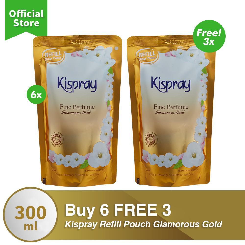 Kispray Refill Pouch Glamorous Gold Buy 6 FREE 3