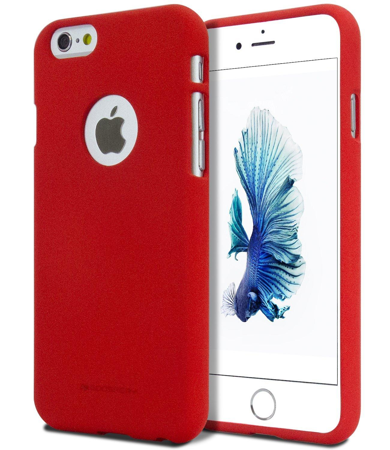 Mercury Soft Feeling TPU Case for iPhone 6 Plus - Red