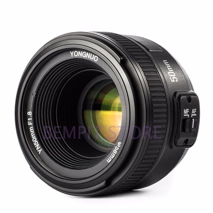 Lensa Fix Yongnuo YN 50mm f1.8 for Nikon