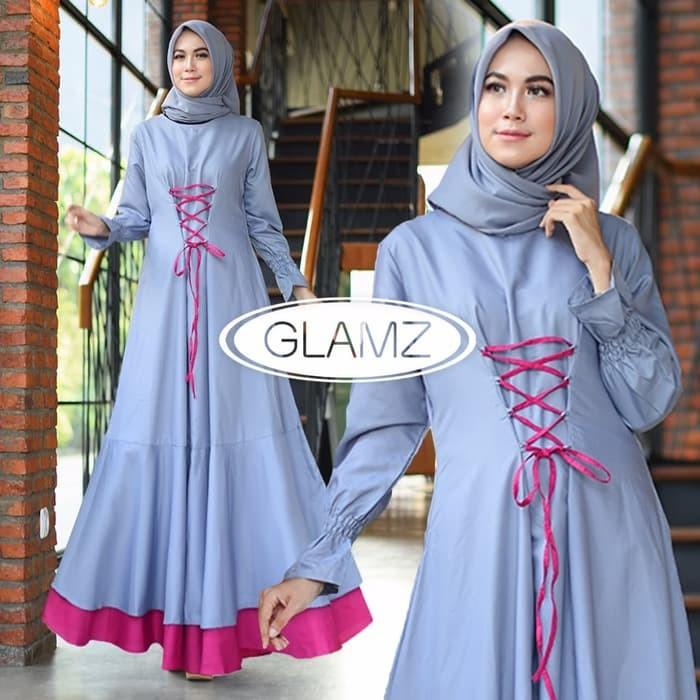 Baju Muslim Gamis Remaja/Baju Hijabers/Pakaian Lebaran Syahirah Grey