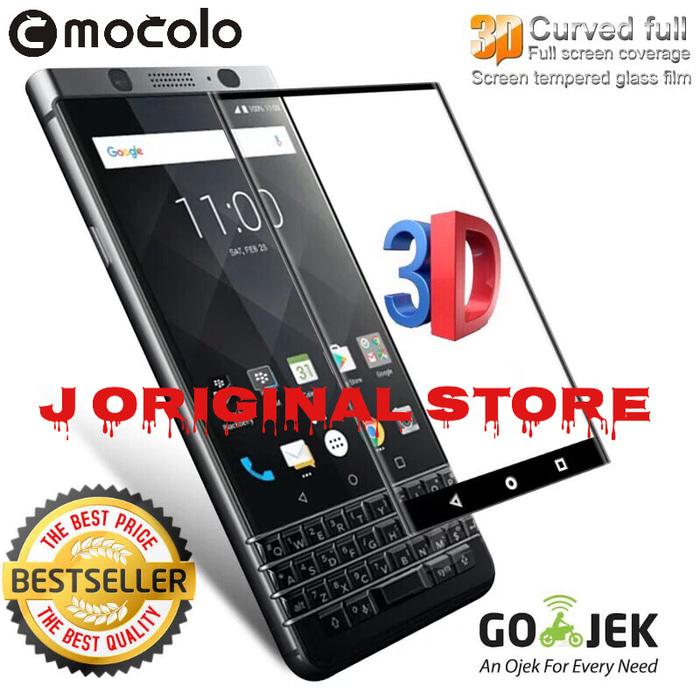 Mocolo Tempered Glass 3D Edge BB KeyOne Full Curved Glass