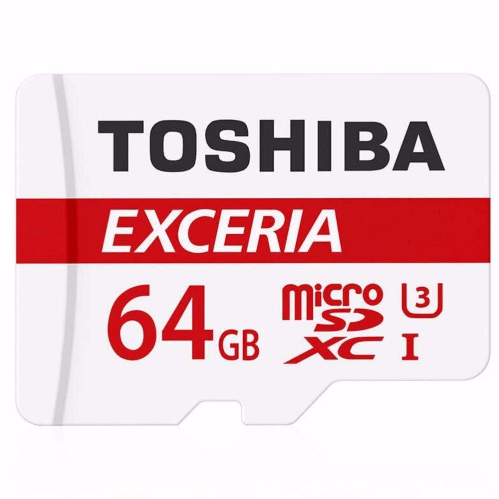 Toshiba Exceria MicroSDXC UHS-I Class 10 U3 (90MB/s) 64GB - THN-M302R0640C4 - Black