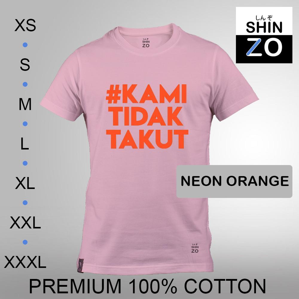 Shinzo Design - Kaos Oblong Distro T Shirt Tee Casual Fashion Atasan Cloth Anime Custom - Premium Cotton Combed 30s Ring Spun Export Quality - Pria - Surabaya Tagar Kami Tidak Takut Teroris - Soft Pink Merah Muda