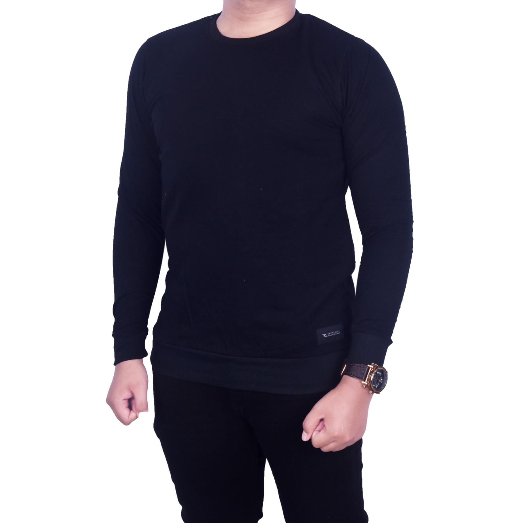 dgm fashion1 Sweater Hitam Polos Distro Murah Sweater Unisex Sweater Man  Casual Sweater Pria 9861679fea