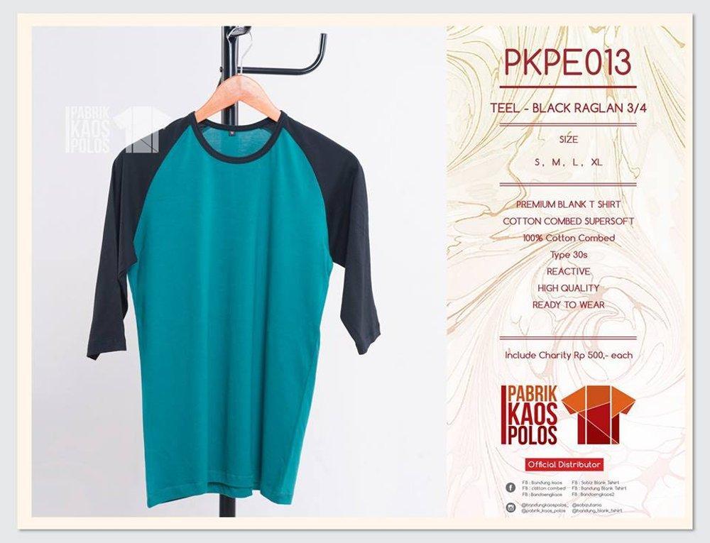 JUAL kaos polos RAGLAN kwalitas DISTRO bahan cotton combed 30s READY STOCK di lapak Pabrik Kaos Polos bandungblanktshirt