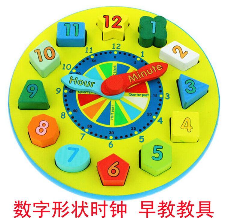 3-4 Tahun Anak Kecil Pendidikan Usia Dini Mainan Bayi Angka Bentuk Kognisi Mainan Balok
