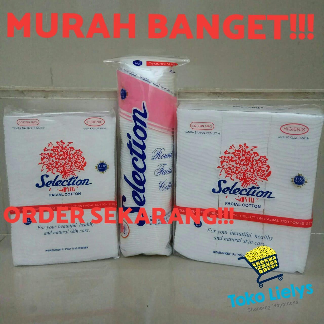 Kapas Selection Wajah Bulat Round Cotton / Selection Round Facial Cotton / Kapas Bulat isi 80
