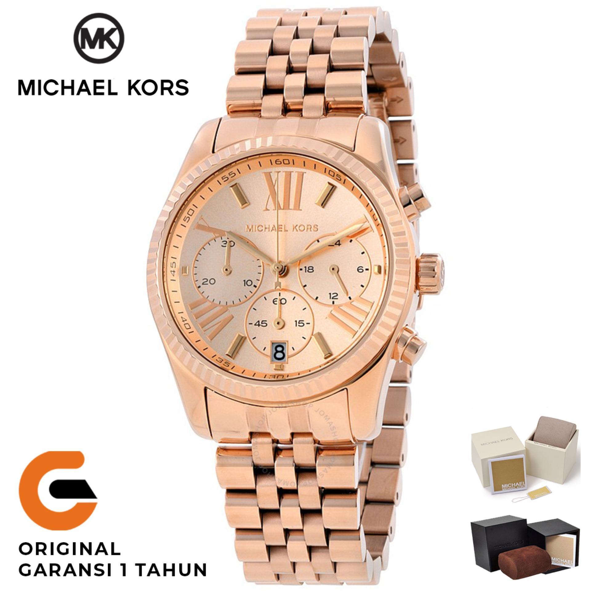 Michael Kors Watch Original Jam Tangan Wanita Michael Kors Lexington MK5569  Tali Rantai Stainless Strap Dial 92f38244c9