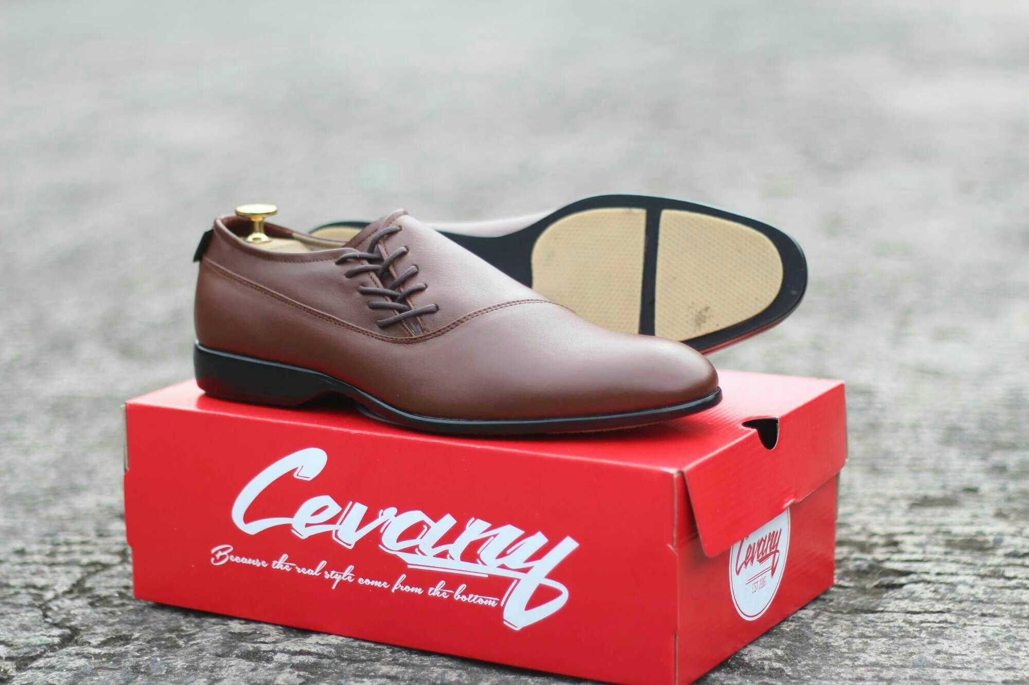 Sepatu CASUAL formal kerja cevany Megan kulit asli original - sepatu kulit pria kerja kantor CASUAL