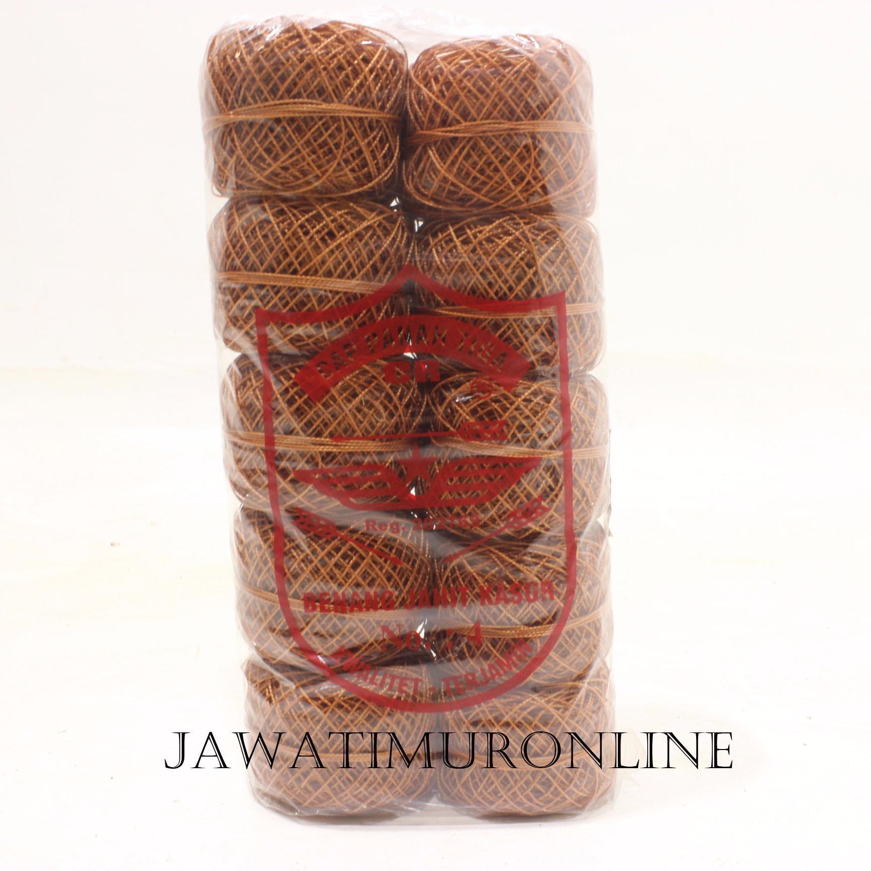 Grosiran Benang Sol Sepatu Warna Coklat / Benang Nilon Sepatu per Pak