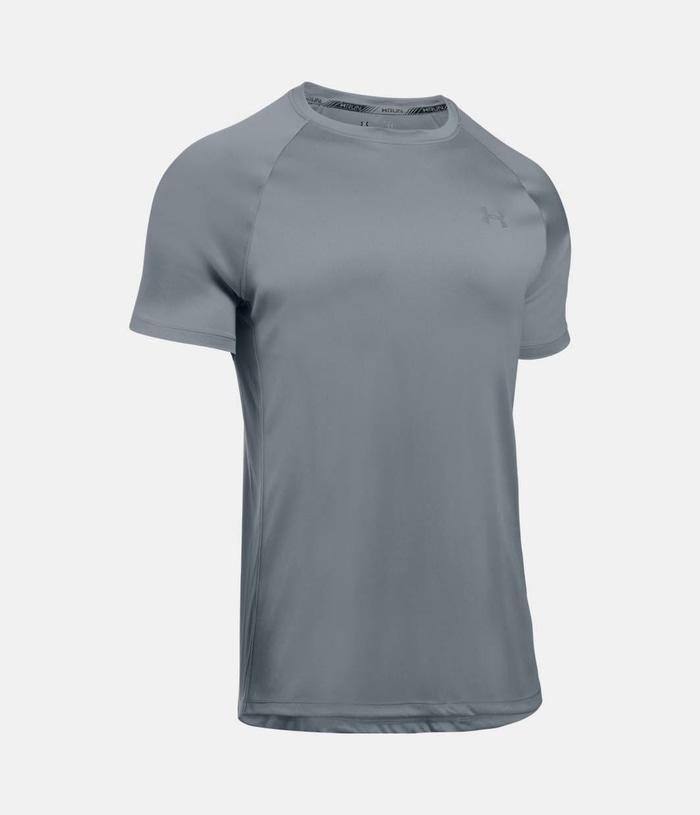 Kaos Tshirt Manset Baselayer Under armour Zipper Misty Blue Check black  Training Run Gym. IDR 149 418d4d9ac8