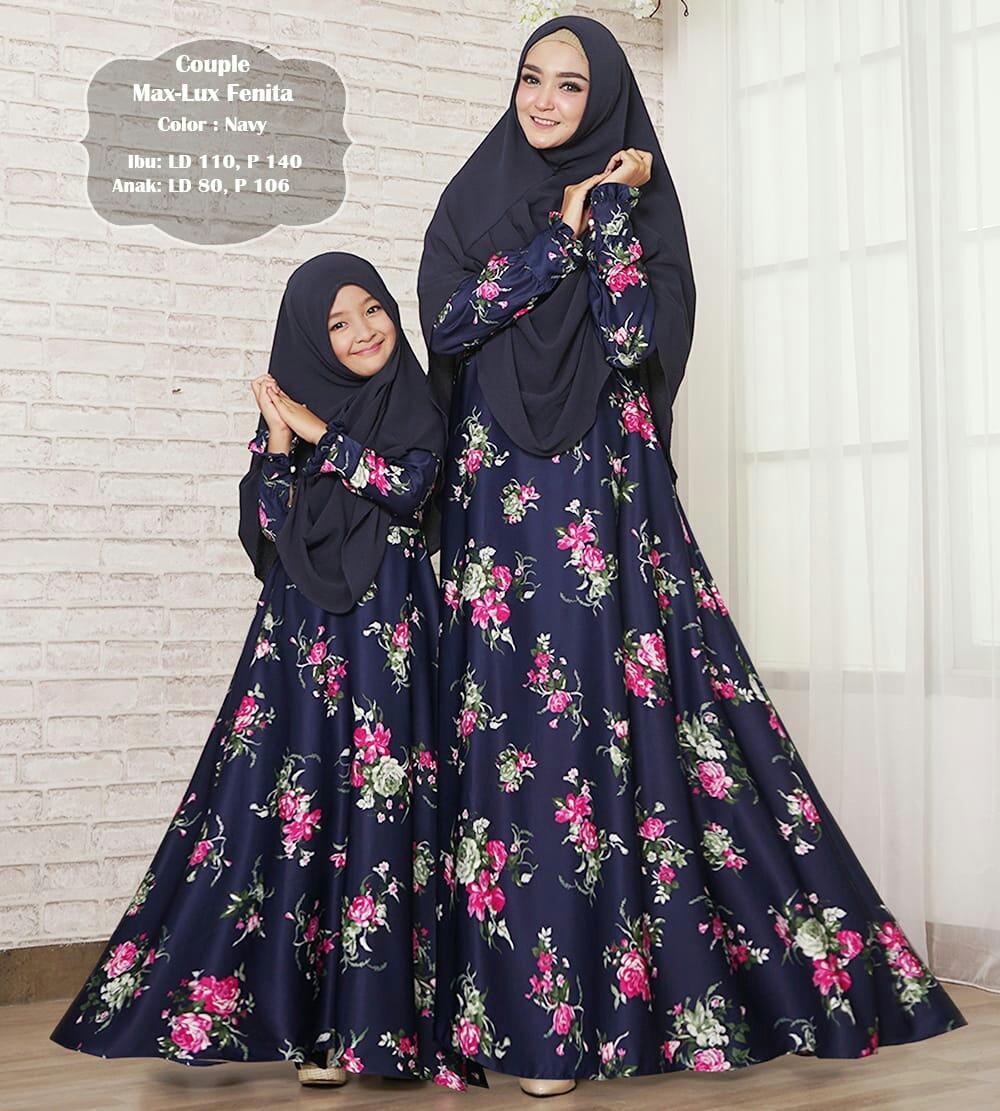 Humaira99 Baju Gamis Syari Muslim Couple Ibu Anak Dress Hijab Muslimah Longdress Atasan Wanita Maxmara Lux Fenita