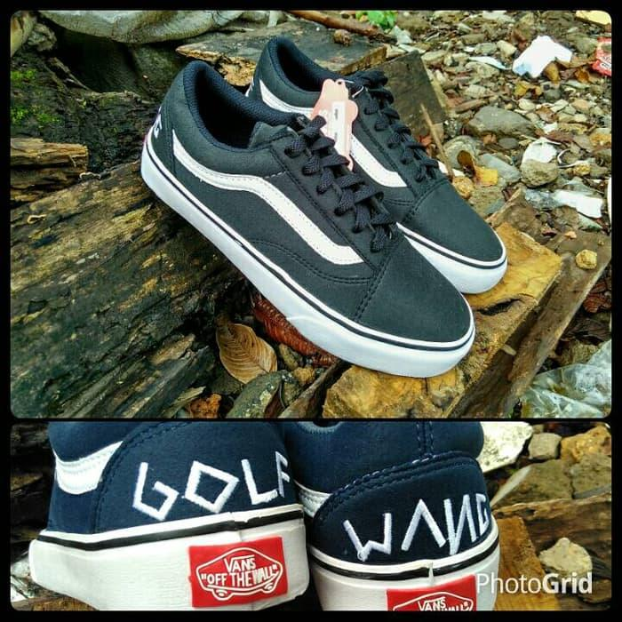 sepatu vans old skool golf wang black - zQ9szl