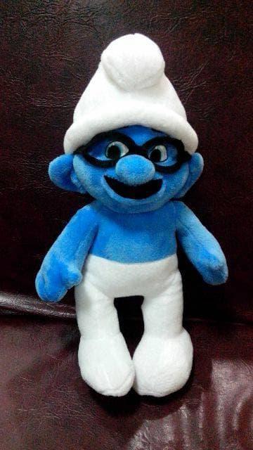Hemat 15%!! Boneka Smurf Kacamata  Biru Tinggi 40 Cm Lucu Unik Langka Jarang - ready stock